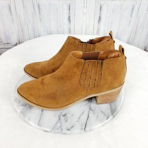 Melrose & Market Faux Suede Ankle Booties